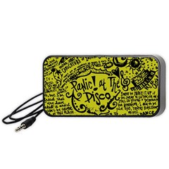 Panic! At The Disco Lyric Quotes Portable Speaker by Samandel