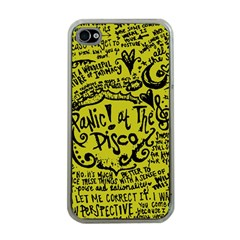 Panic! At The Disco Lyric Quotes Apple Iphone 4 Case (clear) by Samandel