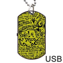 Panic! At The Disco Lyric Quotes Dog Tag Usb Flash (two Sides)