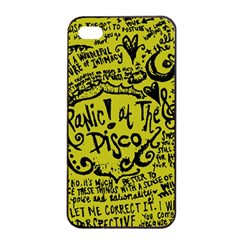 Panic! At The Disco Lyric Quotes Apple Iphone 4/4s Seamless Case (black) by Samandel