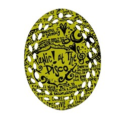 Panic! At The Disco Lyric Quotes Ornament (oval Filigree) by Samandel