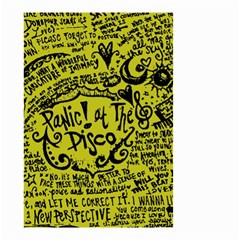 Panic! At The Disco Lyric Quotes Small Garden Flag (two Sides) by Samandel