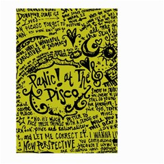 Panic! At The Disco Lyric Quotes Large Garden Flag (two Sides) by Samandel