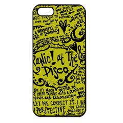 Panic! At The Disco Lyric Quotes Apple Iphone 5 Seamless Case (black) by Samandel