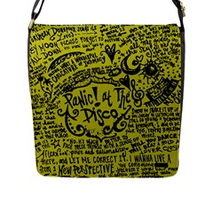 Panic! At The Disco Lyric Quotes Flap Messenger Bag (l)  by Samandel