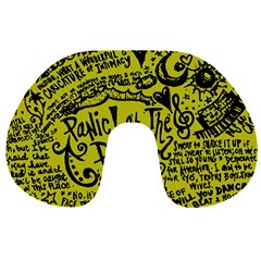 Panic! At The Disco Lyric Quotes Travel Neck Pillows by Samandel