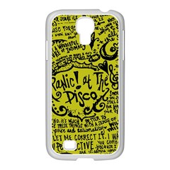 Panic! At The Disco Lyric Quotes Samsung Galaxy S4 I9500/ I9505 Case (white) by Samandel