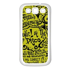 Panic! At The Disco Lyric Quotes Samsung Galaxy S3 Back Case (white) by Samandel