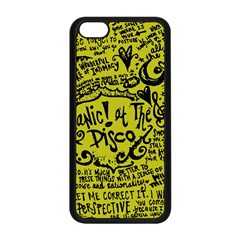Panic! At The Disco Lyric Quotes Apple Iphone 5c Seamless Case (black) by Samandel