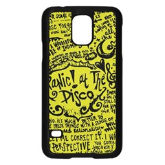 Panic! At The Disco Lyric Quotes Samsung Galaxy S5 Case (black) by Samandel