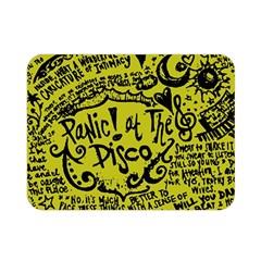 Panic! At The Disco Lyric Quotes Double Sided Flano Blanket (mini)  by Samandel