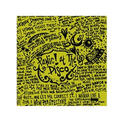 Panic! At The Disco Lyric Quotes Small Satin Scarf (square) by Samandel