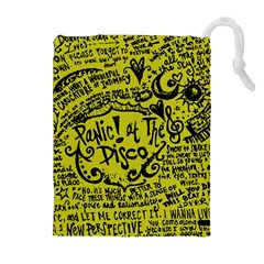 Panic! At The Disco Lyric Quotes Drawstring Pouches (extra Large) by Samandel