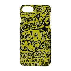 Panic! At The Disco Lyric Quotes Apple Iphone 8 Hardshell Case by Samandel