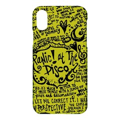 Panic! At The Disco Lyric Quotes Apple Iphone X Hardshell Case by Samandel