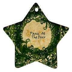 Panic At The Disco Star Ornament (two Sides) by Samandel
