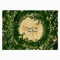 Panic At The Disco Large Glasses Cloth by Samandel