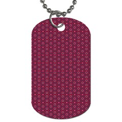 Ethnic Delicate Tiles Dog Tag (two Sides) by jumpercat