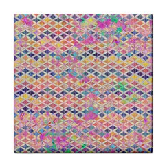 Zigzag Flower Of Life Pattern2 Tile Coasters by Cveti