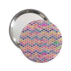 Zigzag Flower Of Life Pattern2 2 25  Handbag Mirrors by Cveti