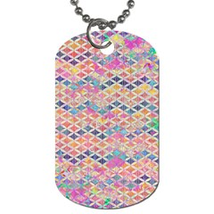 Zigzag Flower Of Life Pattern2 Dog Tag (two Sides) by Cveti
