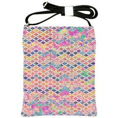 Zigzag Flower Of Life Pattern2 Shoulder Sling Bags by Cveti