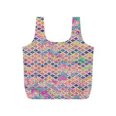 Zigzag Flower Of Life Pattern2 Full Print Recycle Bags (s)  by Cveti