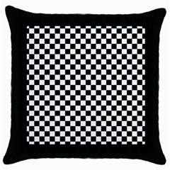 Checker Black And White Throw Pillow Case (black) by jumpercat