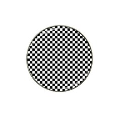 Checker Black And White Hat Clip Ball Marker (4 Pack) by jumpercat
