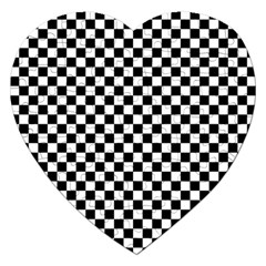 Checker Black And White Jigsaw Puzzle (heart) by jumpercat