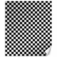 Checker Black And White Canvas 20  X 24   by jumpercat