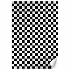 Checker Black And White Canvas 20  X 30   by jumpercat