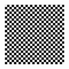 Checker Black And White Medium Glasses Cloth by jumpercat