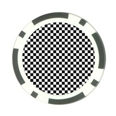 Checker Black And White Poker Chip Card Guard by jumpercat