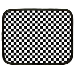 Checker Black And White Netbook Case (large)