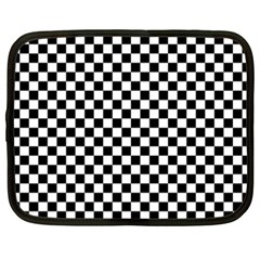Checker Black And White Netbook Case (xxl)  by jumpercat