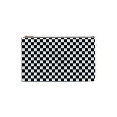 Checker Black And White Cosmetic Bag (small)  by jumpercat