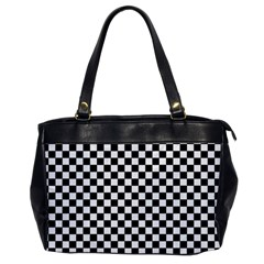 Checker Black And White Office Handbags
