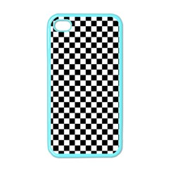 Checker Black And White Apple Iphone 4 Case (color) by jumpercat
