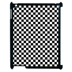 Checker Black And White Apple Ipad 2 Case (black) by jumpercat