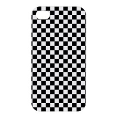 Checker Black And White Apple Iphone 4/4s Premium Hardshell Case by jumpercat