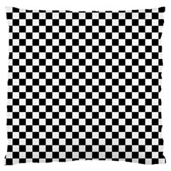 Checker Black And White Large Cushion Case (two Sides)