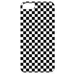 Checker Black And White Apple Iphone 5 Classic Hardshell Case by jumpercat