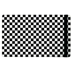 Checker Black And White Apple Ipad 3/4 Flip Case by jumpercat