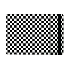 Checker Black And White Apple Ipad Mini Flip Case by jumpercat