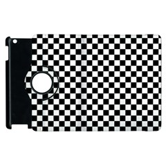 Checker Black And White Apple Ipad 2 Flip 360 Case by jumpercat