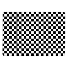 Checker Black And White Samsung Galaxy Tab 10 1  P7500 Flip Case by jumpercat
