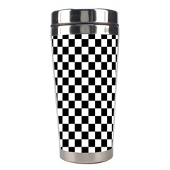 Checker Black And White Stainless Steel Travel Tumblers