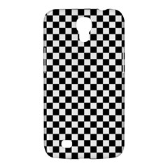 Checker Black And White Samsung Galaxy Mega 6 3  I9200 Hardshell Case by jumpercat