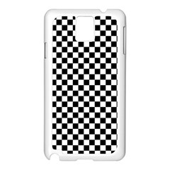 Checker Black And White Samsung Galaxy Note 3 N9005 Case (white) by jumpercat